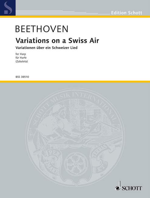 Variations on a Swiss Air WoO 64 Beethoven harp 9790001109758